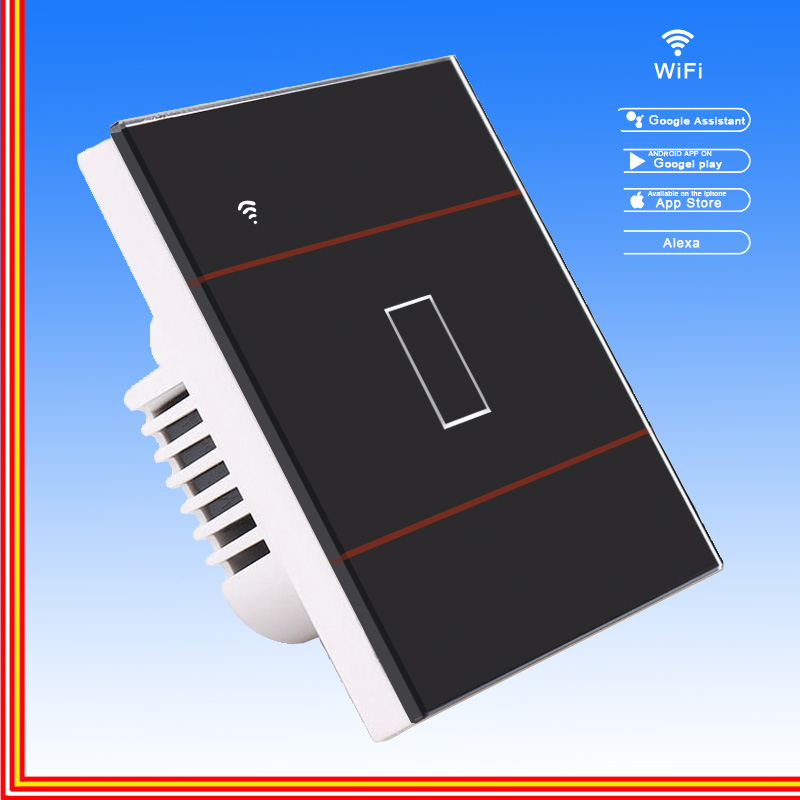 Interruptor táctil interruptor de luz inteligente Panel interruptor de pared 1/2/3 Gang wifi interruptor de luz US/EU trabajo estándar con Alexa Google Home