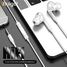 ihuigol In-ear Earphone For iPad iPod iPhone 5 6 Xiaomi MP3 Player 3.5mm Jack HIFI Sport Wired Control Headsets Earbuds with Mic accezz 3 5mm jack in ear earphone for iphone 5 6 ipad xiaomi samsung universal hifi sport earbuds wired control with microphone