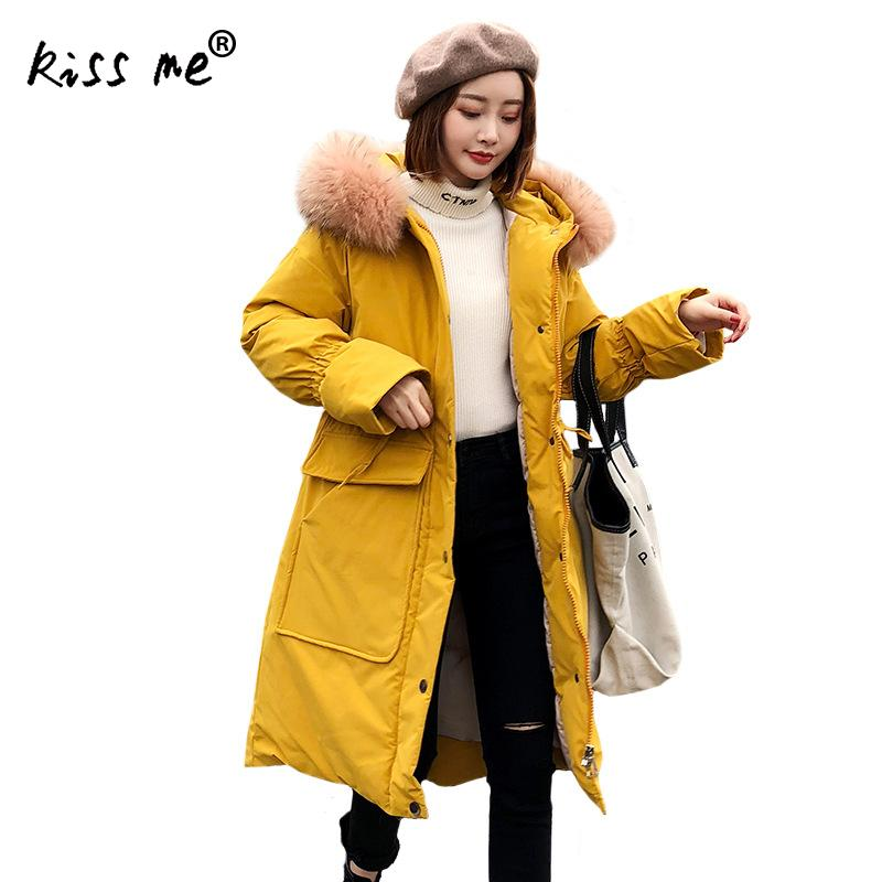Designer Solid Mid-Long Outdoor Down Jacket Women Camping Overcoat Winter Warm Clothing Hooded Windproof Coat Casual Jacket