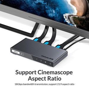 Image 2 - Unnlink Bộ Chia HDMI 1X2 1X4 HDMI2.0 UHD 4K @ 60Hz 18Gbps 4:4:4 HDR HDCP 2.2 3D Cho LED Smart TV Box PS4 Máy Chiếu Khuếch Đại