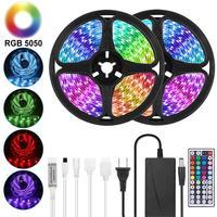 Tira de LED Goodland 12V cinta luminosa led RGB cinta SMD 5050 2835 cinta de diodo Flexible 5M 10M con retroiluminación remota para TV