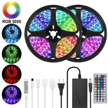 Goodland LED Strip 12V Ribbon LED Lights Strip RGB Tape SMD 5050 2835 Flexible 5M 10M Diode Tape with Remote LED Light for Room cheap living room 50000 Switch Other Epistar 2700-6500k ROHS 54LEDs M 30LEDs M Led Light Strip LED Tape RGB LED Strip LED Strips