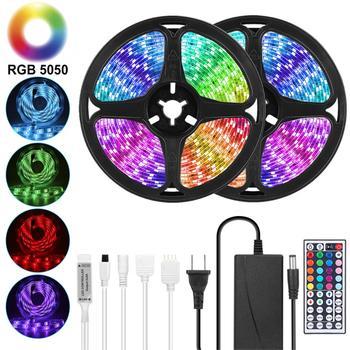 Goodland LED Strip 12V Ribbon LED Lights Strip RGB Tape SMD 5050 2835 Flexible 5M 10M Diode Tape with Remote LED Light for Room