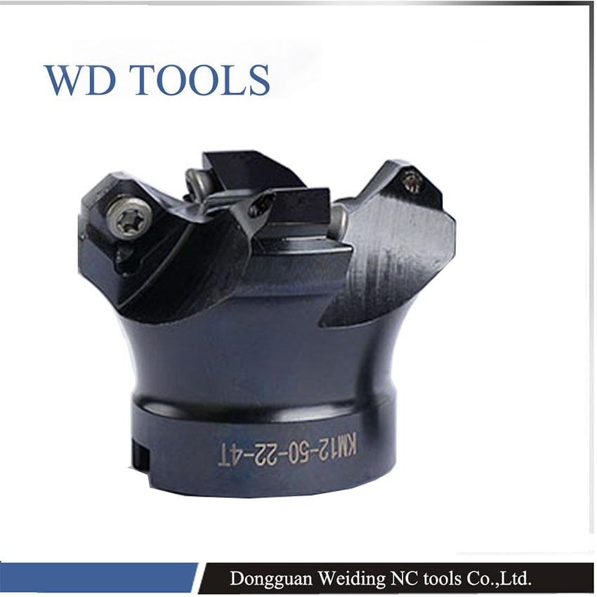Free Shipping  Good Quality 50mm 63m 80 KM Face Mill KM12-63 -22 Face Mill Milling Cutter Cnc Milling Tools For Inserts SEKT1204