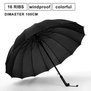 Image 2 - חם מטריית גשם נשים צבעוני 16K קשת ארוך מטריית גברים נשים Windproof Guarda Chuva גולף ברור מטרייה גדול שמשייה