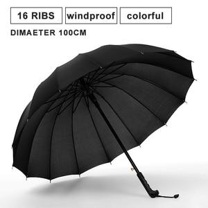 Image 2 - Paraguas impermeable de 16K para hombre y mujer, paraguas de arco iris largo, resistente al viento, para Golf, gran sombrilla