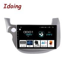 """Idoing 10.2 """"4G + 64G 8 çekirdekli araba Android radyo multimedya oynatıcı Honda Fit Jazz 20082013 için GPS navigasyon 2.5D IPS hiçbir 2 din dvd"""