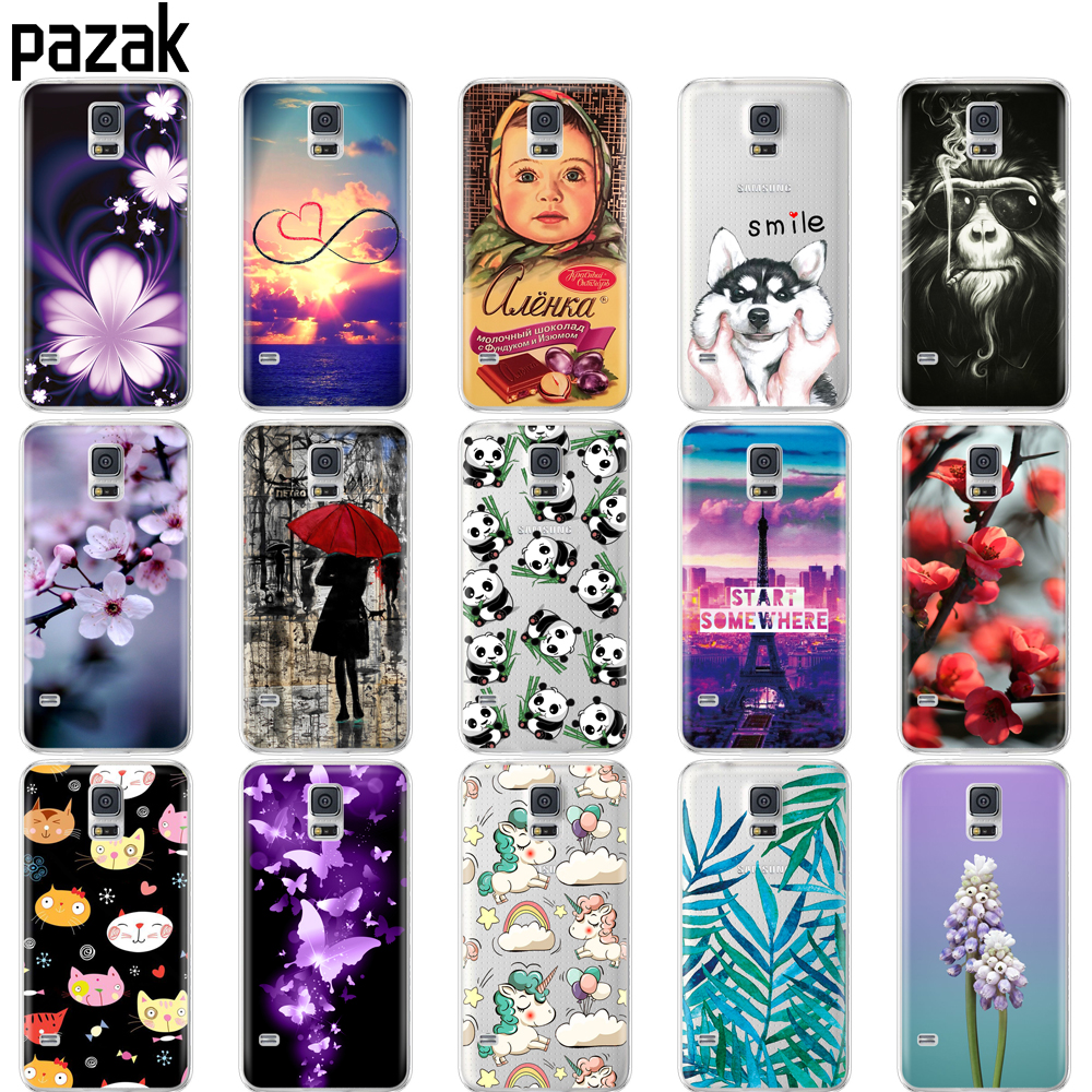 Silicone case For Samsung Galaxy S5 Case phone Cover For Samsung S5 Neo Case Capa For Samsung S5 i9600 SM-G900F pop painting bag
