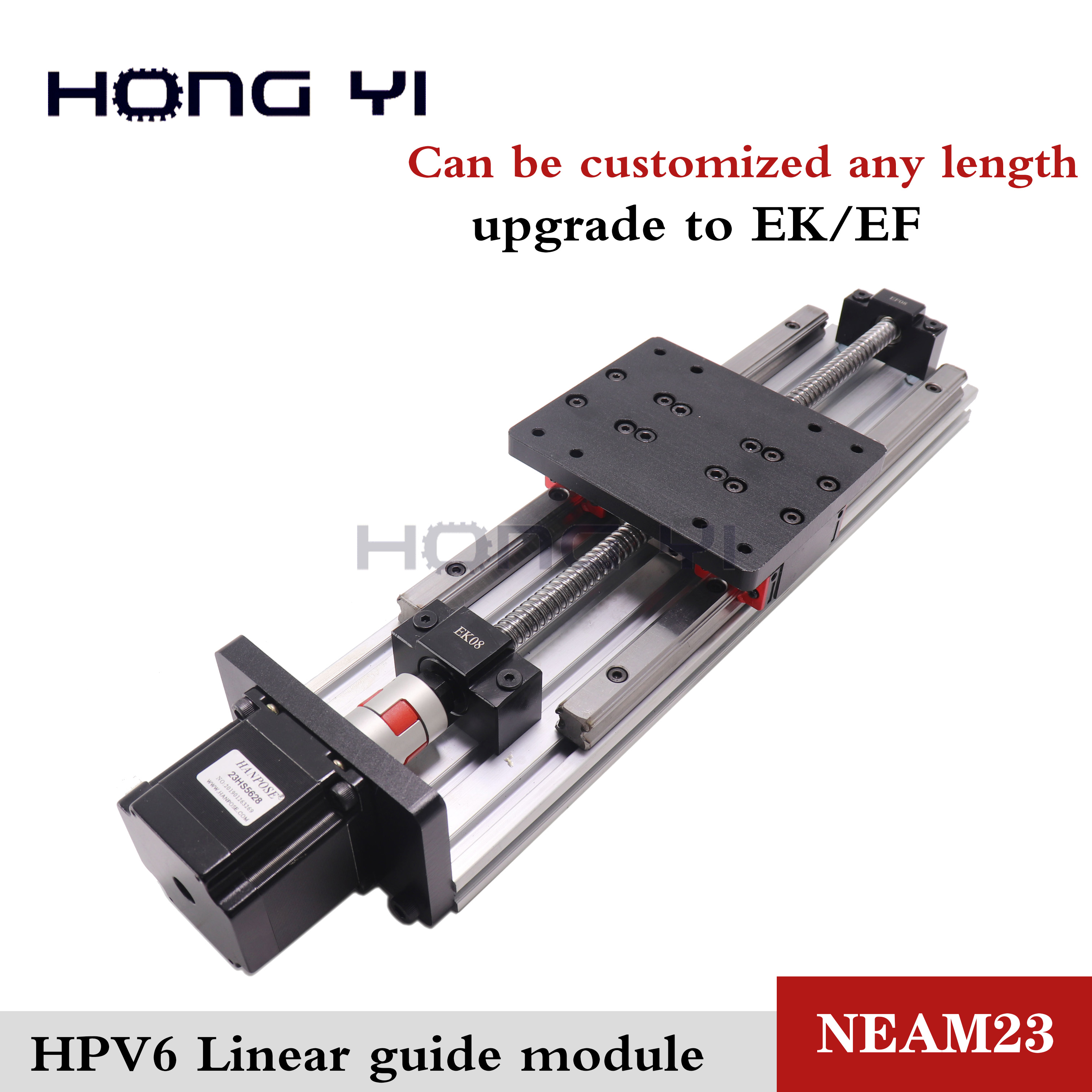 HPV6 Linear module ballscrew sfu1204 with Linear Guides HGR15 HIWIN 100% same size with NEMA23 2.8A 56mm stepper motor