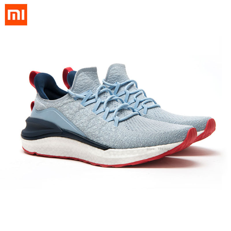Original XiaoMi Mijia Sneakers Sport <font><b>shoes</b></font> Sneaker 4 Outdoor Running Lightweight Breathable <font><b>4D</b></font> Fly Woven Upper Washable Smart image