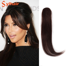 Sylhair Natural Hair Bangs Clips Front Side Long Bangs Fake Fringe Clip In Hair Extensions Accessories for Women