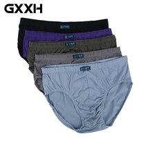 5 шт./лот, большое Мужское нижнее белье, хлопковые брюки, большой размер, треугольные брюки, мужские брюки с высокой талией, большие размеры, мужские брюки, размер L-8XL