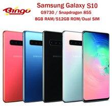 Samsung Galaxy S10 G9730 512GB Dual Sim desbloqueado teléfono móvil Snapdragon 855 Octa Core 6,1