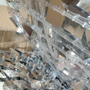 Image 4 - Cadre de fond Transparent, 35x35cm, avec paillettes, arrière plan de mariage, plaque de panneaux muraux 3D avec connecteur, 35cm x 35cm, 50pcs