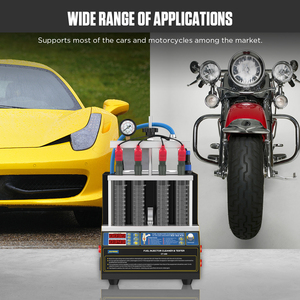 Image 5 - AUTOOL CT160 רכב דלק מזרק חימום ניקוי Tester מכונת קולי מנקה אופנועים מצת Cleanning 220V 110V