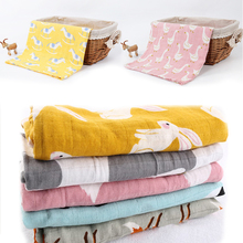 Cotton Baby Blankets Newborn Soft Organic Cotton Baby Blanket Muslin Swaddle Wrap Feeding Burp Cloth Towel Scarf Baby Stuff