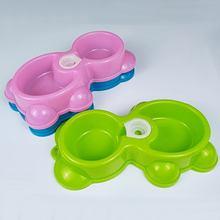 Корм для домашних животных двойные миски с водяным диспенсером