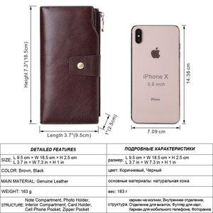 Image 2 - Flanker vintage คลัทช์ยาวกระเป๋าสตางค์หนังกระเป๋าสตางค์ซิปกระเป๋าธุรกิจชายเงินโทรศัพท์มือถือกระเป๋าถือ