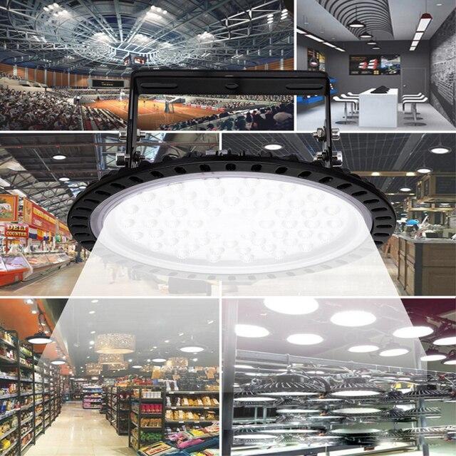 50 вт 100 200 нло светодиодные лампы для высоких промышленных фотография