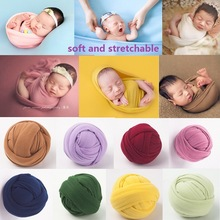 Newborn Photography Props Blanket Props Baby Photo Wrap Swaddling Milk Napped Cotton Stretchable Wraps Photo Shoot Backdrop