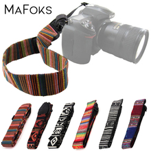 6 kolorów Retro Vintage modne paski do aparatu uniwersalny nylonowy pasek na ramię do Nikon Canon Panasonic Sony Pentax DSLR