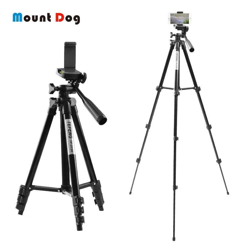 MountDog 35-85cm Adjustable Mini Tripod Stand For Phone Mount Holder With Phone Clip For GoPro Action Camera