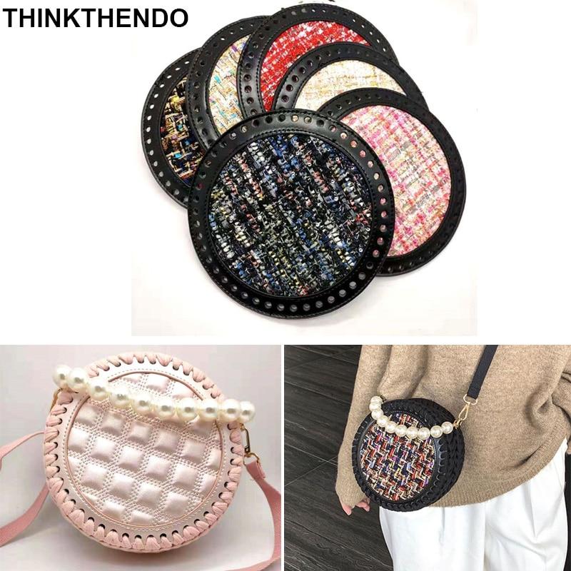 2pcs DIY Knitting Crochet Bag Leather Nail Bottom Base Shaper Replacement Bags