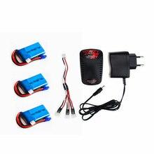 2 3 pcs 7.4V 800mAh 35C 2s LiPO battery EC2 plug with charger For Walkera Rodeo