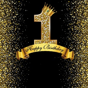 Image 3 - Happy Sweet 18th 25 30 40 50 55th Birthday Party Gold Dot Party Banner Photo Background Photophone Photo Backdrop Photostudio