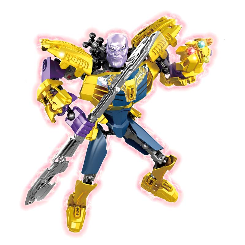 New Marvel Dc Super Heroes Os Vingadores Infinito Guerra Abater Obsidiana Veneno Thanos Modelo Building Blocks Define Brinquedos Grandes Figuras