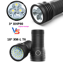 Ultra Bright 3 XHP90.2 led torch most Powerful LED Tactical Flashlight 3-Mode