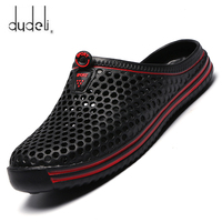 2021 Summer Slippers Men Hollow Out Breathable Beach Flip Flops Unisex Casual Slip-on Flats Sandals Men Shoes size 45 Zapatos 1