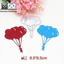 Металлические штампы в форме сердца и воздушных шаров трафареты