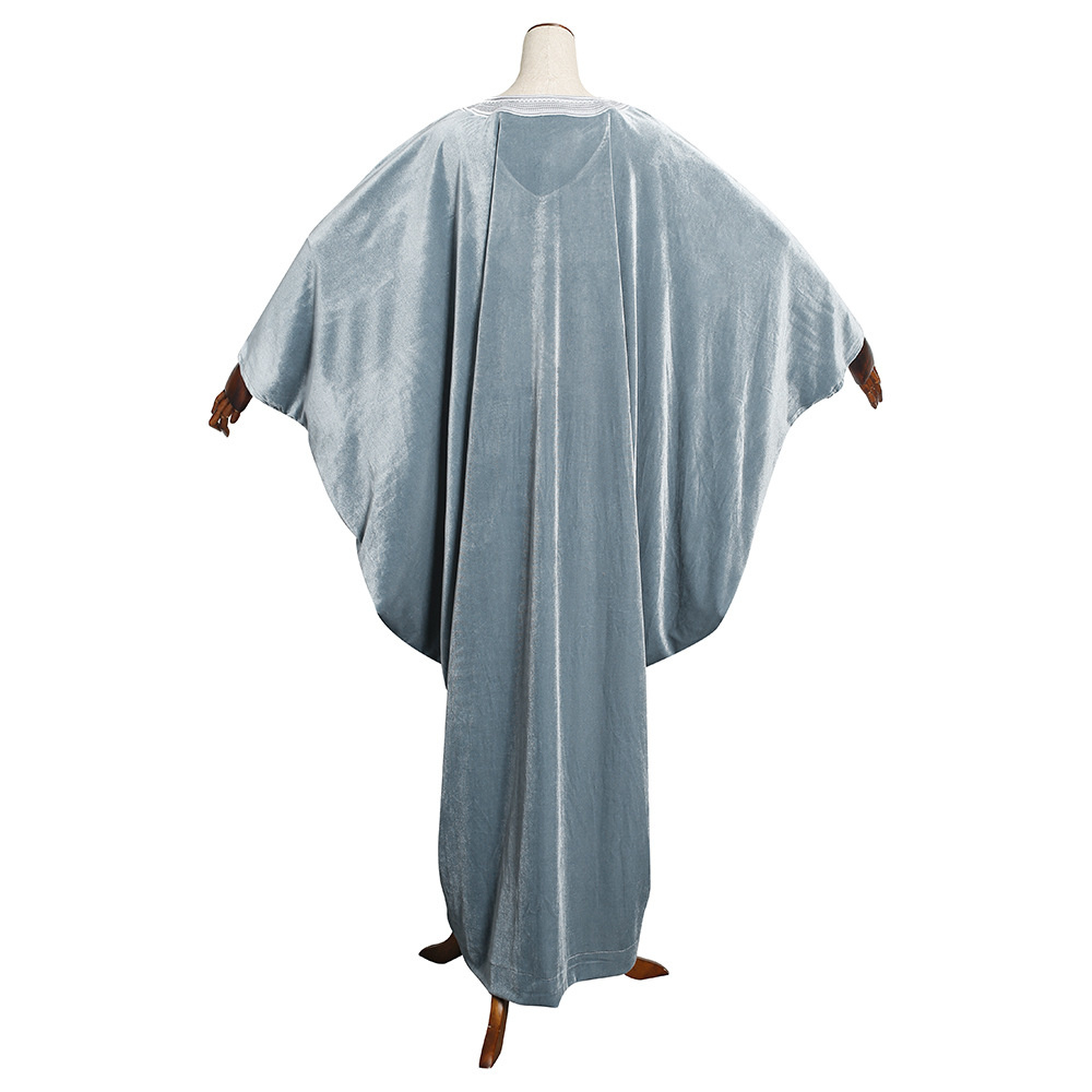 Ramadan eid muçulmano veludo bordado abaya africano