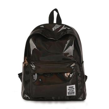 цена на Women Laser Hologram Pvc Backpack Leisure Girl Shoulder School Backpack 2020 New Leather Holographic Travel Bag Mochila Feminina