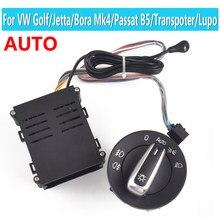 Para vw transporter multivan caravelle t5 t6 + auto farol do carro chrome interruptor de luz da lâmpada sensor luz 3bd941531a 1c0941531a