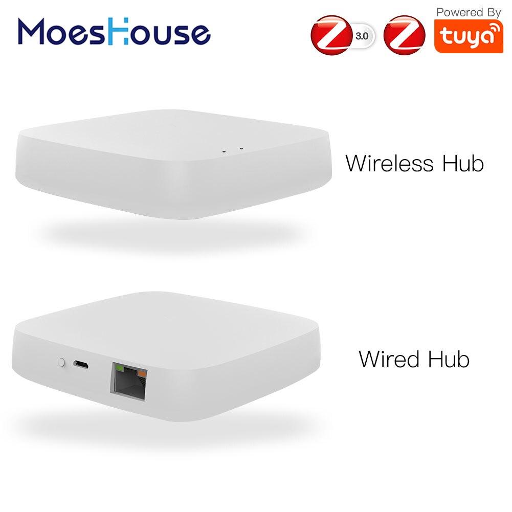 Умный шлюз Tuya ZigBee, хаб для умного дома, мост, приложение для умного дома, беспроводной пульт дистанционного управления, работает с Alexa Google Home