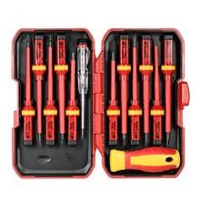 KKmoon 13 Pcs VDE Isolierte Schraubendreher set CR V Spannung 1000V Magnetische Phillips Schlitz Torx schraubendreher Durable Hand Werkzeuge