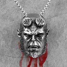 Collier Long avec pendentif pour homme, chaîne Punk en acier inoxydable, bijou créatif, cadeau idéal pour Un petit ami, vente en gros