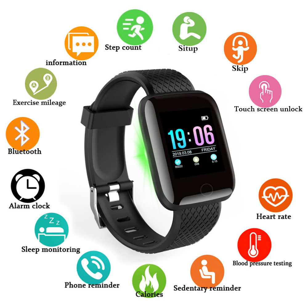 Doolnng Smart Watch Men Blood Pressure Smartwatch Women Heart Rate Monitor Fitness Tracker Watch Sport For Android IOS