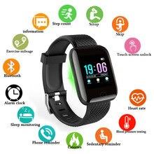 Doolnng inteligentny zegarek mężczyźni ciśnienie krwi Smartwatch kobiety tętno Tracker do monitorowania aktywności fizycznej zegarek sportowy dla