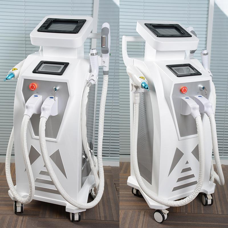 Double Screen 4 In1 Multi-function OPT IPL  Tattoo Removal Equipment Vascular Pigment Acne Therapy With Q Switched