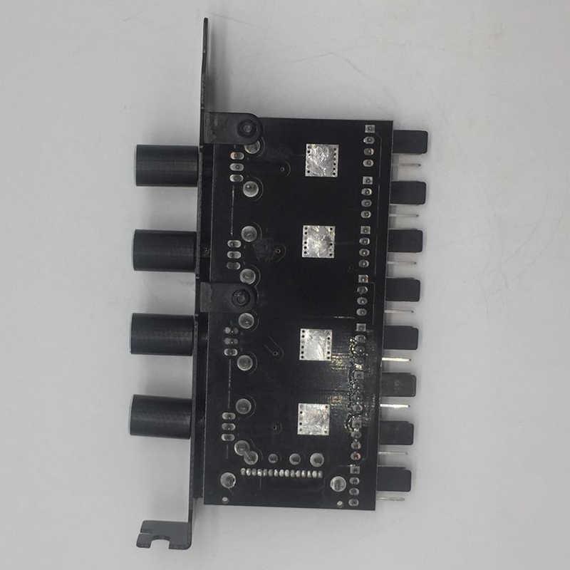 Pc 8 Kanalen Fan Hub 4 Knop Cooling Fan Speed Controller Voor Cpu Case Hdd Vga Pwm Fan Pci Bracket power Door 12V Fan Control