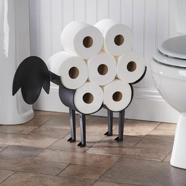 Bathroom equipment toilet paper holder Sheep Decorative Free Standing Bathroom Tissue Storage