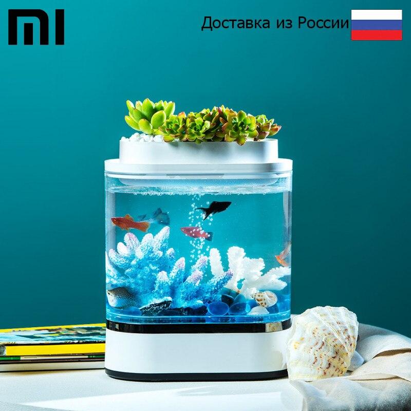 Аква ферма Xiaomi Descriptive Geometry Mini Lazy Fish Tank Модель: HF JHYG005|Большие и маленькие аквариумы| | АлиЭкспресс