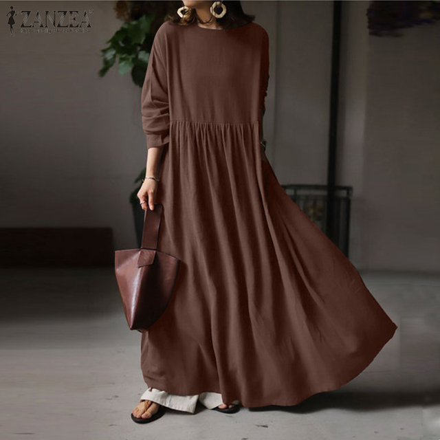 extremely comfortable long casual dress, long sleeves day to night 1