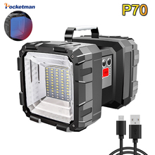 USB Rechargeable LED Work Light L2 35*SMD XHP70+45* SMD LED Waterproof Flashlight Inspection Spotlight 10000MAh Built-in Battery