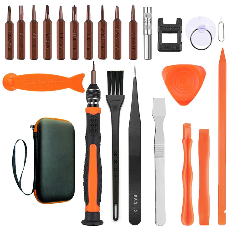 Objective 24 In 1 Mobile Phone Repair Kits, Precision Screwdriver Set With Netizer, Fixed Tool Kit For Electronic Repair Equipment