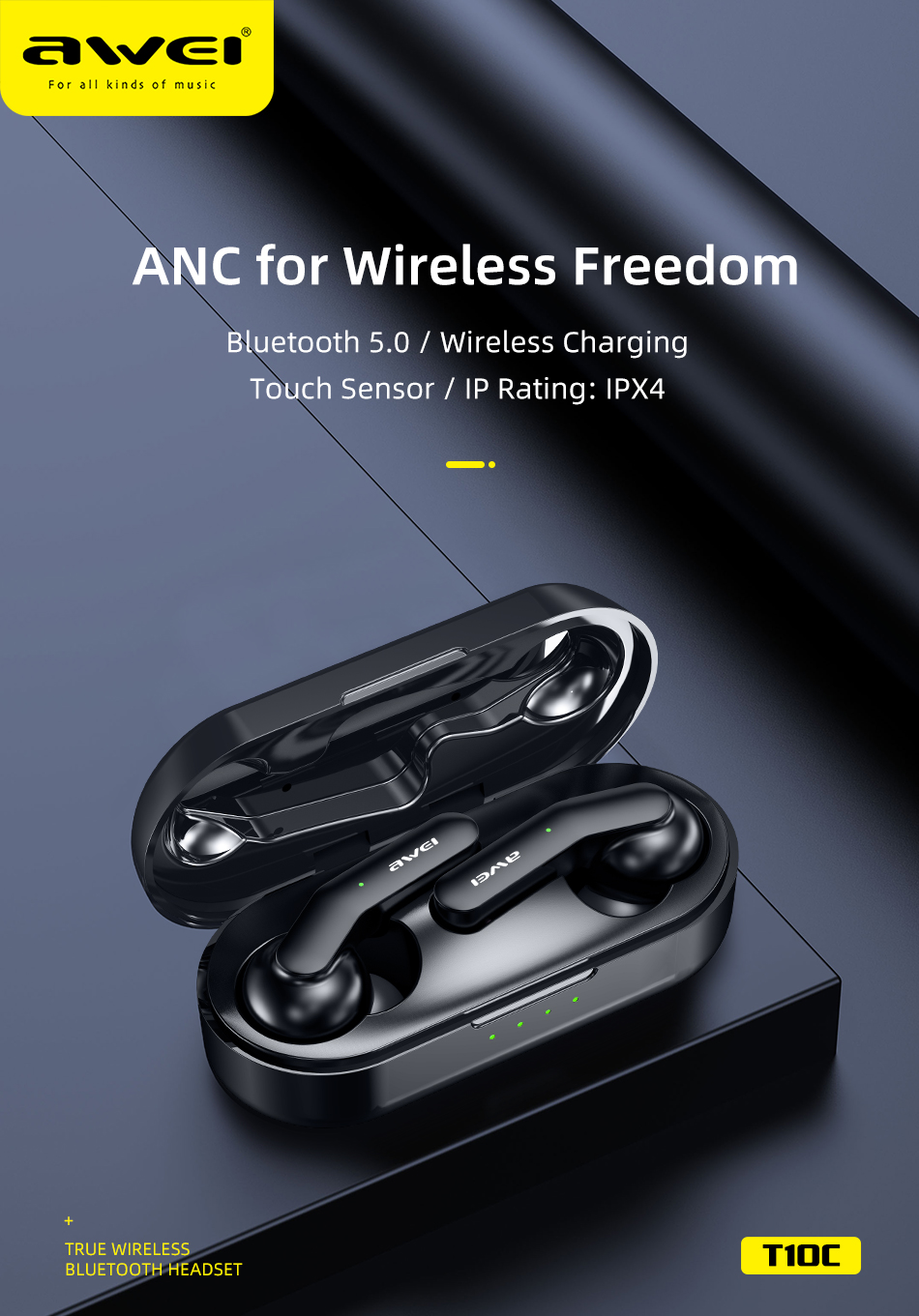 FONE BLUETOOTH SEM FIO AWEI T10c-page2