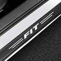 4 шт., автомобильный дизайн углеродного волокна порога протектор декор наклейки для Honda Fit Авто порога двери защита аксессуары